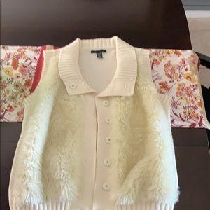 Kenneth Cole women's faux fur sweater vest